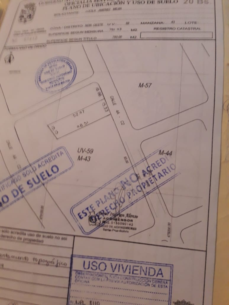 Terreno en Venta En venta casa como terreno  zona equipetrol norte casi 4 anillo Foto 3
