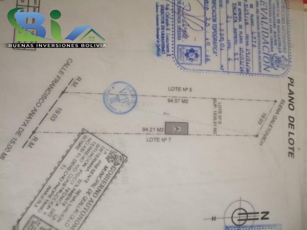 Terreno en Venta PROPIEDAD COMERCIAL SUP. TOTAL 3050M2 Aprox. A UNA CUADRA AV. BLANCO GALINDO  ZONA QUILLACOLLO Foto 5