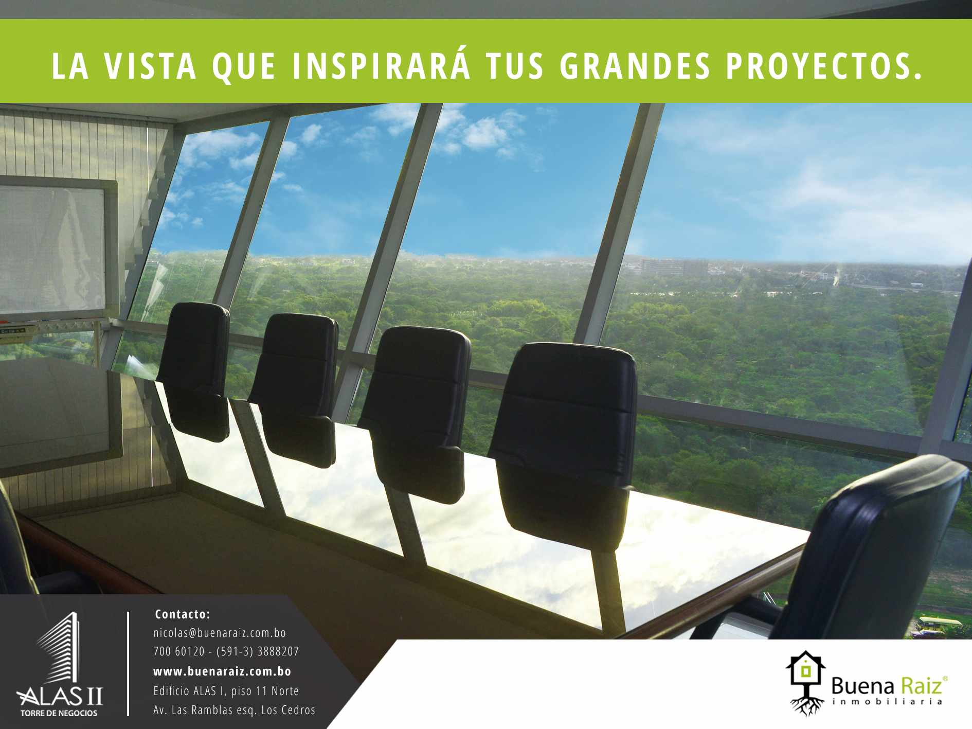 Oficina en Venta Torre de Negocios ALAS. Equipetrol Norte zona Empresarial, Av. San Martín entre 3er y 4to anillo.  Foto 2