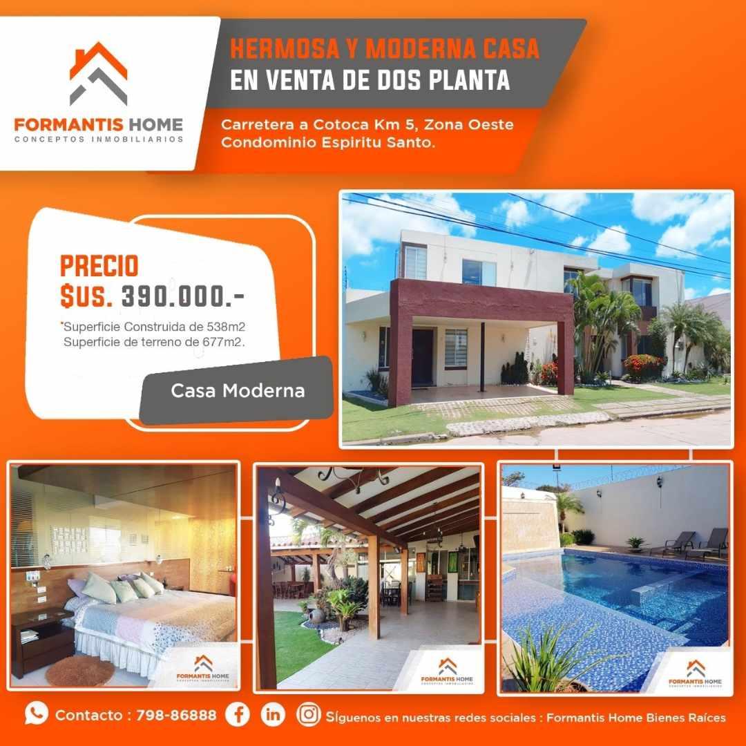 Casa en Venta HERMOSA CASA EN VENTA DE OCASION, CARRETERA A COTOCA KM. 5 CONDOMINIO ESPIRITU SANTO Foto 6